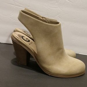 Guess Tan Colored Sling back Booties